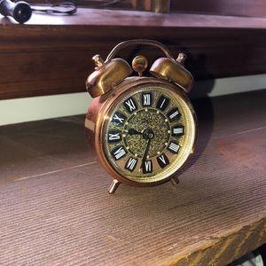 Mini gold clock